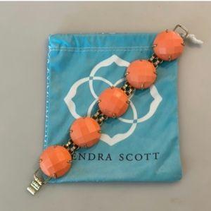 Kendra Scott Cassie Bracelet in Coral & Gold